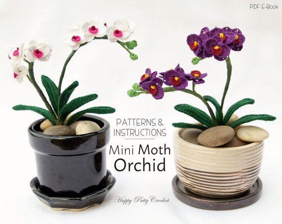 Mini Crochet Orchid Pattern  Crochet Flower от HappyPattyCrochet