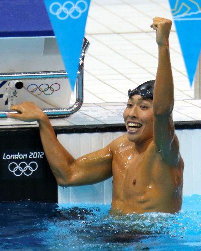 高3・萩野が銅メダル 競泳男子400個人メドレー 写真:男子400個人メドレーで銅メダルを獲得した萩野公介=樫山晃生撮影