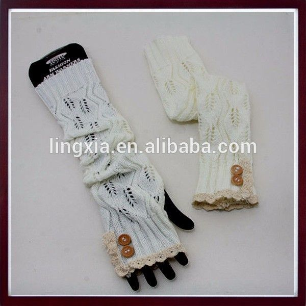 Modern Lace Trim Crochet Top Gloves Knit Arm Warmers,Arm Hand Fingerless Women's Knitted Gloves - Buy Women's Knitted Gloves,Knit Arm Warmers,Knitted Gloves Product on Alibaba.com