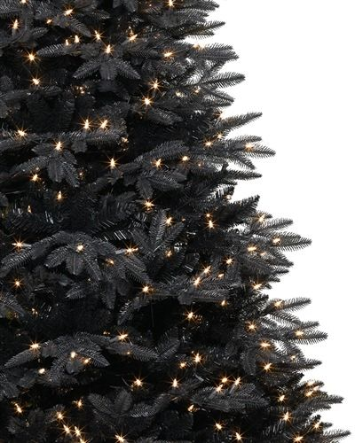 Intergalactic Black Christmas Tree Twilight Black Christmas Tree #Intergalactic #BlackTree