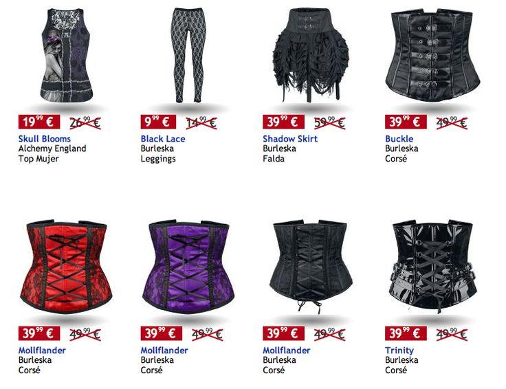 Ofertas especiales ( #corsets ) en  #empspain ..   la mayor tienda online de Europa de Merchandising oficial de bandas de #Metal, #Hard Rock , #Heavy, Ropa #Gótica , #Punk y todo lo que te hace falta para vivir el Rockstyle en toda su dimensión.