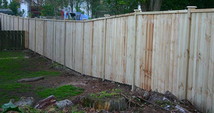 Nogged with cap and castle caps plain board wooden fence