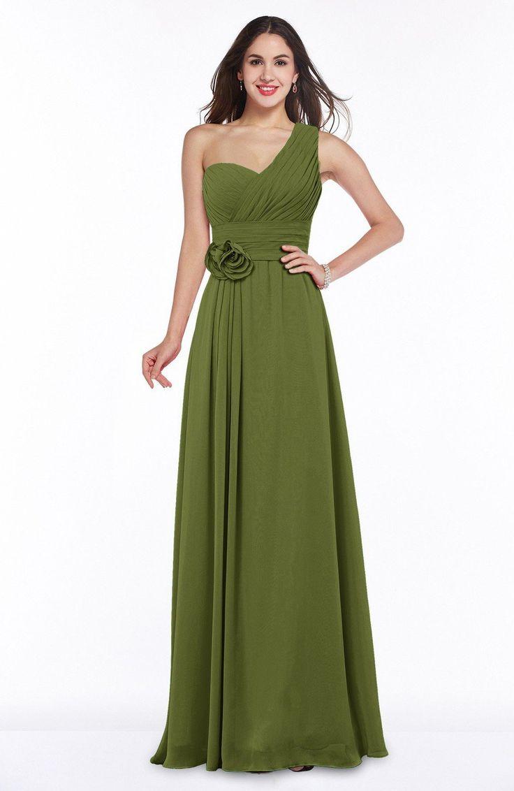 The 25 best green bridesmaid dresses ideas on pinterest sage olive green bridesmaid dress elegant asymmetric neckline zipper chiffon ruching plus size maxi ombrellifo Choice Image