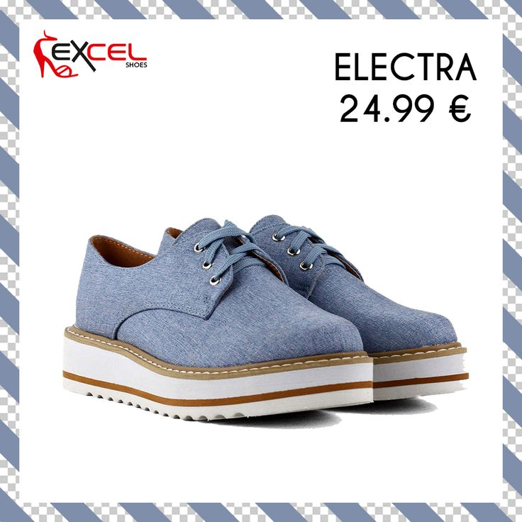 Ladies' Denim Shoes 2017! Electra 24,99€ 🚚 Δωρεάν μεταφορικά για Ελλάδα Shop Now: https://goo.gl/mmiGeJ #excelshoes #ss17 #spring #summer #2017 #shoes #women #womenfashion #flatform #thessaloniki #papoutsia #gunaika #παπουτσια #moda