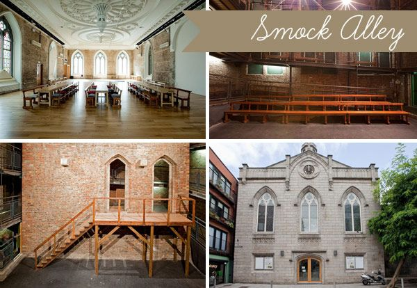 Smock-Alley - Read more on One Fab Day: http://onefabday.com/10-unusual-irish-wedding-venues/