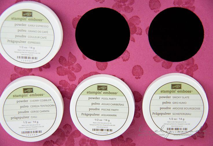 Aufbewahrung Prägepulver Embossing Powder Tutorial