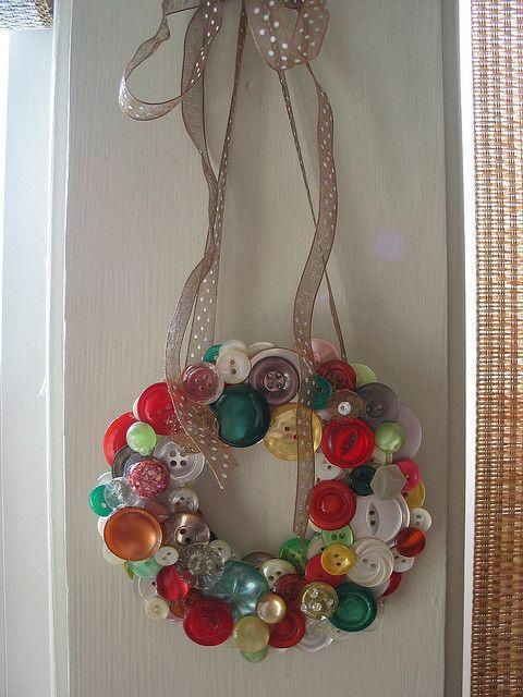 button wreath - love it!