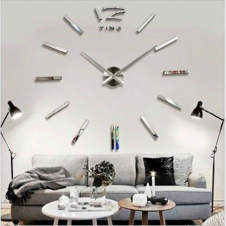 dhesive wall clocks are equipped with quality movements to AA 1.5V battery pack, which is characterized by perfect silence. Case razor and hands are made of polished steel which are virtually attached to the wall. Installation is very simple. The residue components in the form of digits is sufficient to stick to the wall, as they are provided with adhesive on the inside surface. This model is useful not only to the living room, or office, but also in other areas, which originally rebounds…