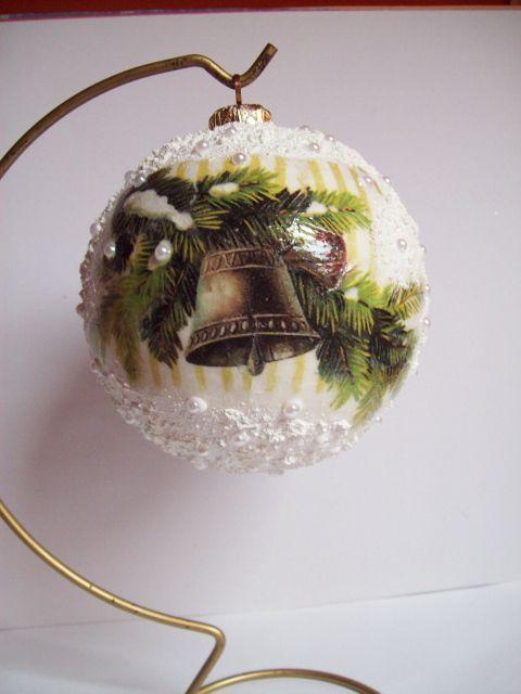 Christmas Ball, decoupage