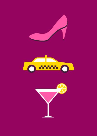 Can You Guess These TV Show From Their Minimalist Posters? SEX AND THE CITY