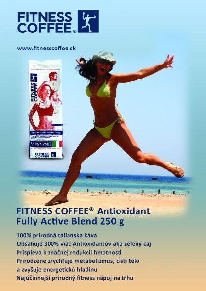 FITNESS COFFEE ® Antioxidant zrnková, 250g  Fitness Coffee je 100% prírodná talianska káva, bohatá na Antioxidanty. Obsahuje zmes Arabiky a Robusty a 13-tich zdravých bylín a korení, ktoré majú blahodarný účinok na ľudský organizmus, dávajú káve lahodnú chuť a jedinečnú arómu. Fitness Coffee je jedinečná zdravá káva, ktorá NEPREKYSĽUJE organizmus a tým nezaťaží Váš žalúdok. - See more at: http://milujemkavicku.sk/sk/home/21-fitness-coffee-antioxidant-zrnkova-250g.html#sthash.VPY7ayK7.dpuf