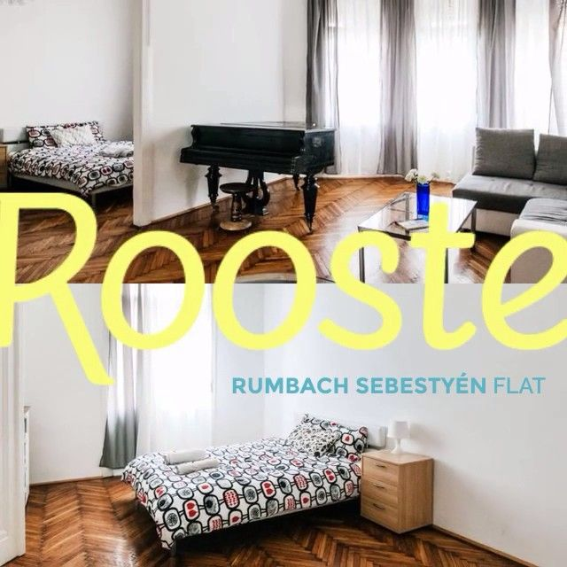 Rumbach Sebestyén Flat – A very nice, 2 bedroom, recently refurbished apartment in a historic district at the heart of the city and close to shops and metro.  http://www.rooste.co/listing/rumbach-sebestyen-utca-flat/