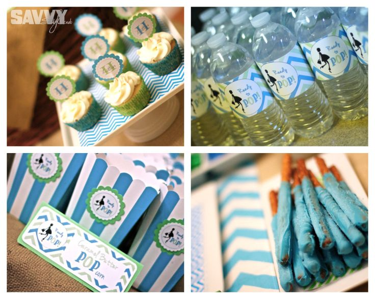 pop baby showers diy baby shower ready to pop blue green blue and baby