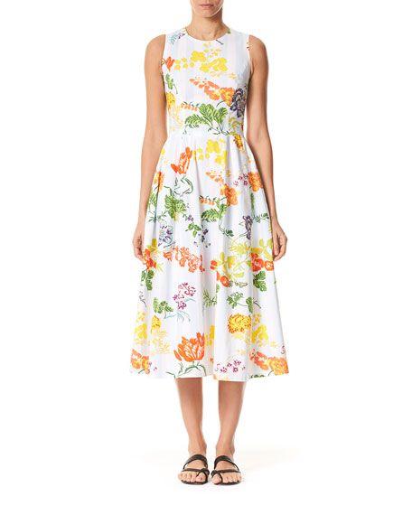 52eb1399819db Carolina Herrera Sleeveless Floral Midi Dress in 2019 | Stitch Fix ...