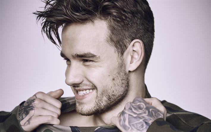 Download wallpapers 4k, Liam Payne, 2017, british singer, portrait, guys, celebrity, superstars, One Direction