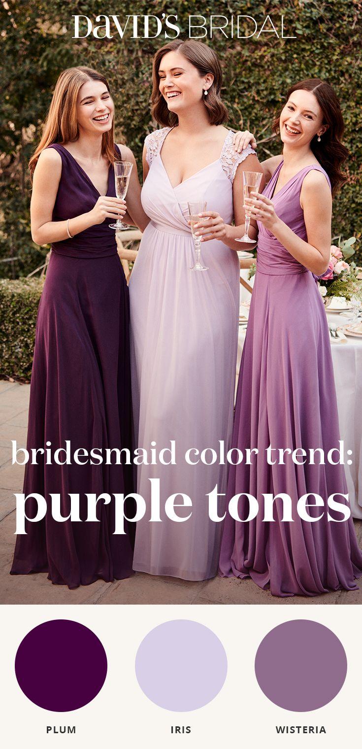 Let S Pick Some Violets David S Bridal Brings You Purple Bridesmaid Dresses In Chi Purple Bridesmaid Dresses Light Purple Bridesmaid Dresses Bridesmaid Colors [ 1520 x 735 Pixel ]