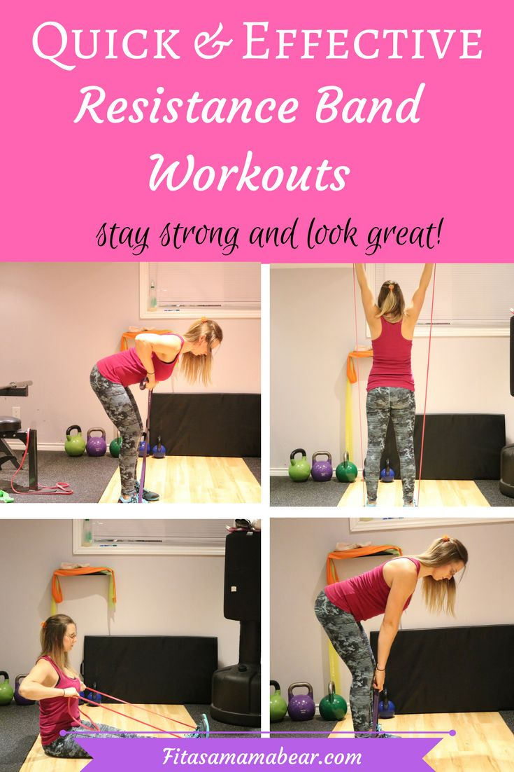 Quick, effective, workouts using resistance bands, fitness, exercise, at home, busy mom bands, resistance, strength, weight loss, tone, define, muscle, training, program, #resistancebands