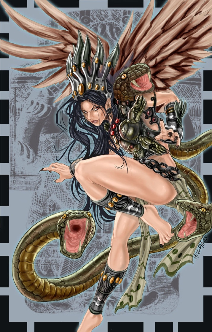 Coatlicue colored by !Frozforest on deviantART. Aztec Earth Goddess of Life and Death.
