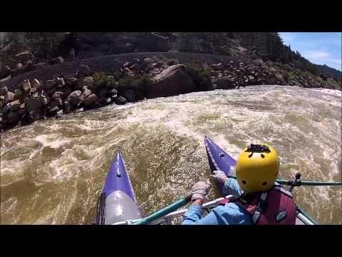 Browns Canyon Arkansas river 4800 cfs June 20-21, 2015 - YouTube