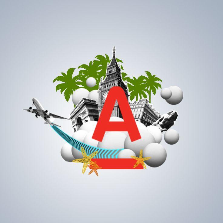 Продолжаем тему: путешествия! Логотип Альфа-Банка глазами дизайнеров. #путешествия #travel