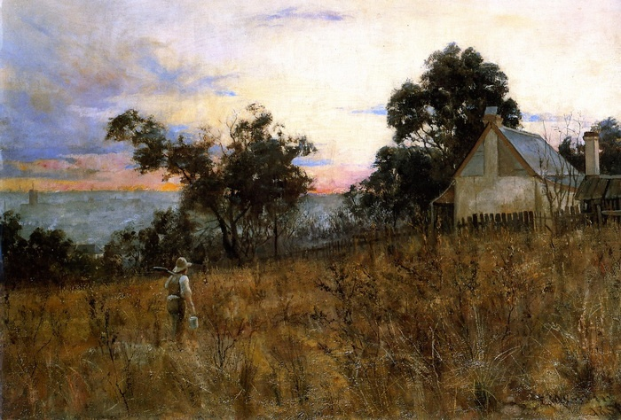 Frederick McCubbin Winter Evening Hawthorn 1886