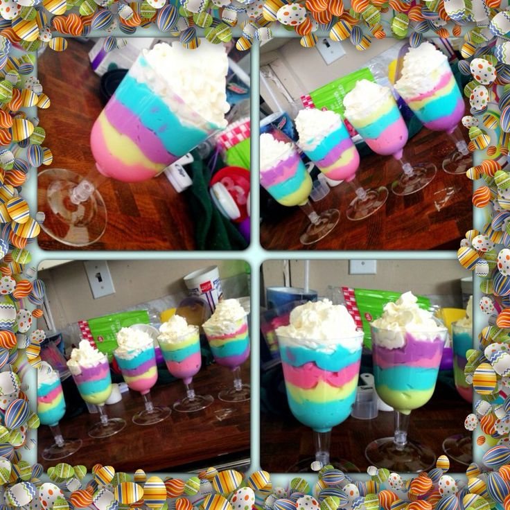 Easter White Chocolate Pudding Parfait. So easy and so good for any occasion. A huge hit at an Easter gathering!
