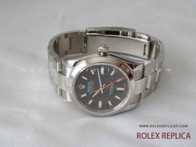 Rolex Milgauss Replica Quadrante Nero 2836-2 Swiss Eta