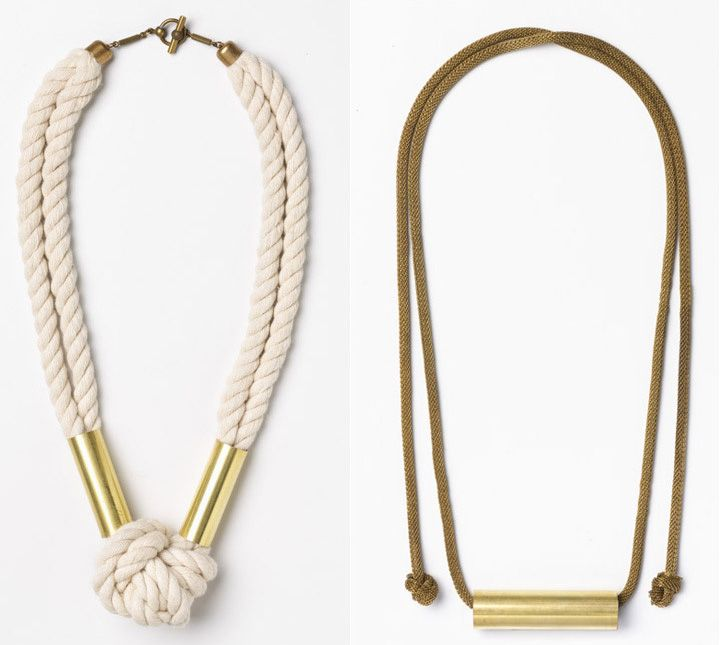 brass corde necklace
