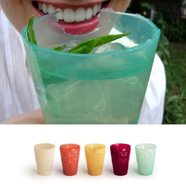 @LOLIWARE edible cups - Cheers! to eating your cup  Loliware cups (New York, US) are edible, vegan and biodegradable and a much better alternative to plastic or even bioplastic cups.