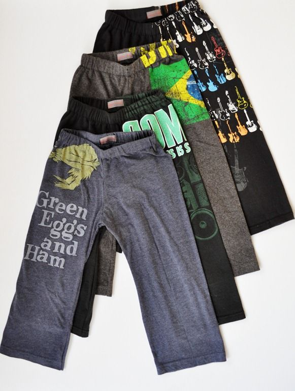 Turn T-shirts into pants. No kids yet, but I love this idea. Will have to remember it for some future day.