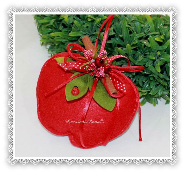 Una mela simbolo di salute e fortuna per decorare tutta la casa in allegria!