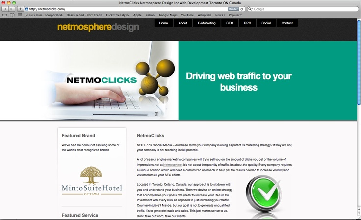 NETMOclicks  Driving web traffic to your business    SEO / PPC / Social Media – Are these terms your company is using as part of its marketing strategy? If they are not, your company is not reaching its full potential.
