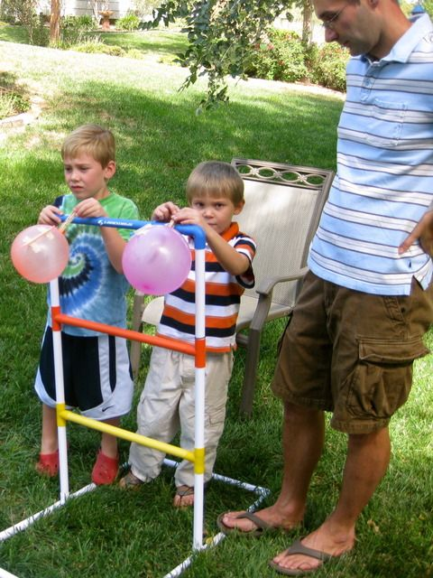 rocket balloon races at space party