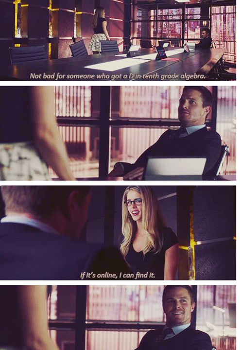 Haha. Look at Ollie's face at the end Arrow - Oliver & Felicity #2.1 #Season2