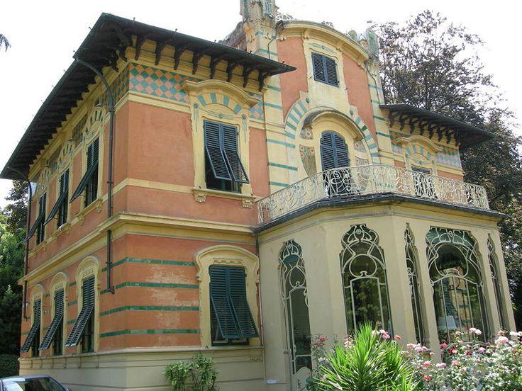 Villa ducloz barsanti lucca liberty architettura for Belle architecture villa