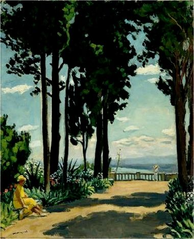 ALBERT MARQUET ~ Saint-Raphaël, la terrasse (1932) ♥ Inspirations, Idées & Suggestions, JesuisauJardin.fr, Atelier de paysage Paris, Stéphane Vimond Créateur de jardins ♥