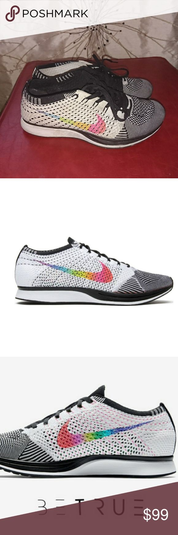 Euclid nike fly knit be true Flyknit Racer 'Be True' racer good used Condition will be cleaned before sent to you Size 8 Nike Shoes Sneakers