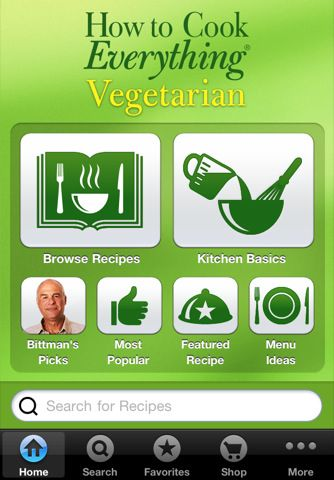 Mark Bittman:  How to Cook Everything Vegetarian - App