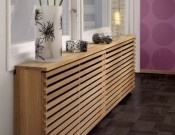 Wooden Radiator Covers with Decorative Trends  This would be so cool...just have a spot that lifted so you can adjust the temp on the top.