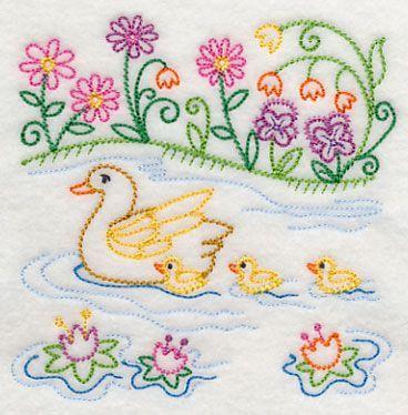 duck embroidery design - Google Search