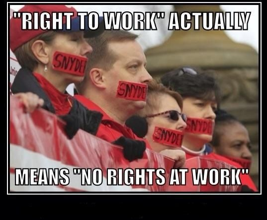 """Check out the history of """"right to work"""" laws alongside the stagnation of the minimum wage."""