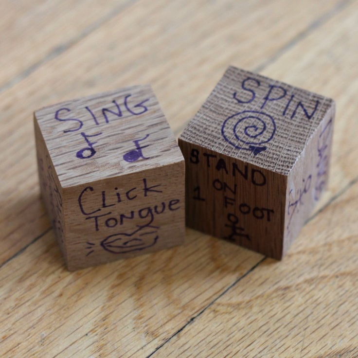 Action Dice DIY - make your own for a fun family game that everyone can play! - pinterest party