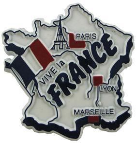 MGI Companies, Inc. - France - International Country Shaped Map Magnets, $2.89 (http://www.internationalgiftitems.com/france-magnetic-map)