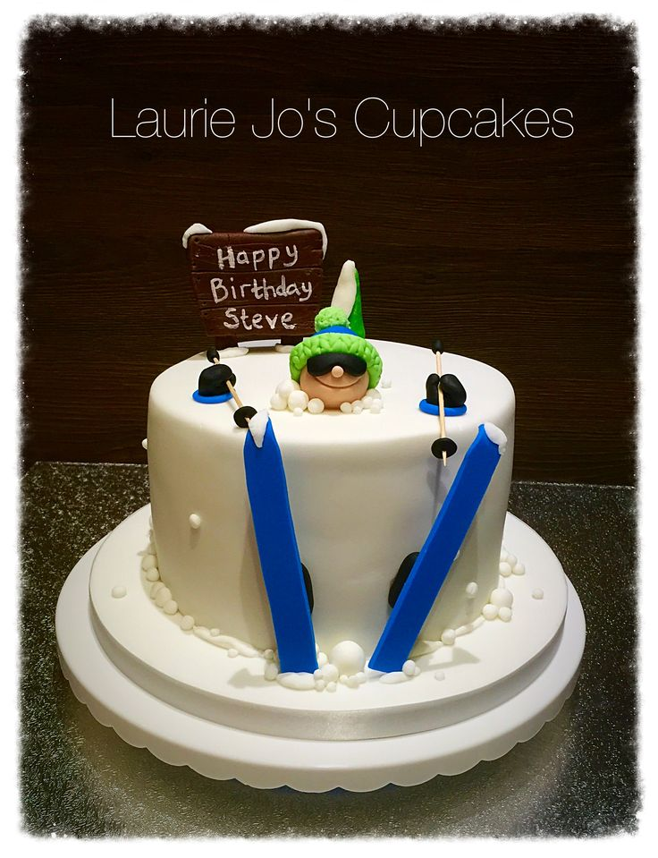 62 best Cakes Skiing images on Pinterest Christmas cakes Xmas