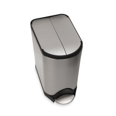 simplehuman brushed stainless steel 20liter butterfly step trash can