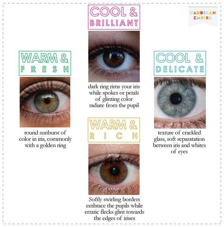 Cardigan Empire:Eyes for Cool & Delicate color and other eye colors from different seasonal colors