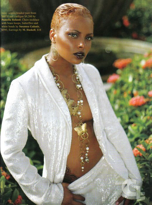 | Eva Pigford on the cover of BridesNoir:-eva_bride