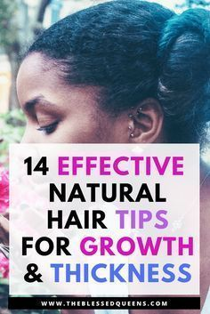 14 Effective Natural hair Growth and Thickening Tips - Natural hair growth tips and remedies for black hair. Lets me introduce you to a journey of thicker and longer hair with this tips. We Black women mostly love long natural hair and we want our hair to grow faster! But remember, beauty is within. Here is how to make your natural hair grow longer and thicker!