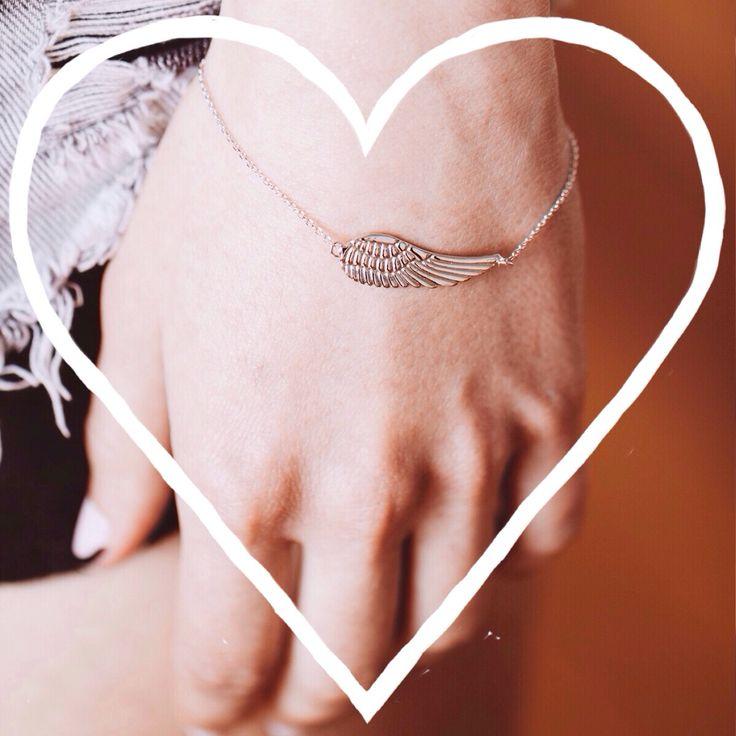 | Solo flight bracelet from our frivolity range | #jewellery #jewelry #handmade #handcrafted #angelwing www.pinchandfold.com