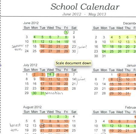 planning a year-round school calendar